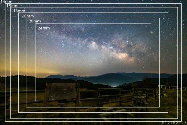 14-24mmの天の川の画角比較