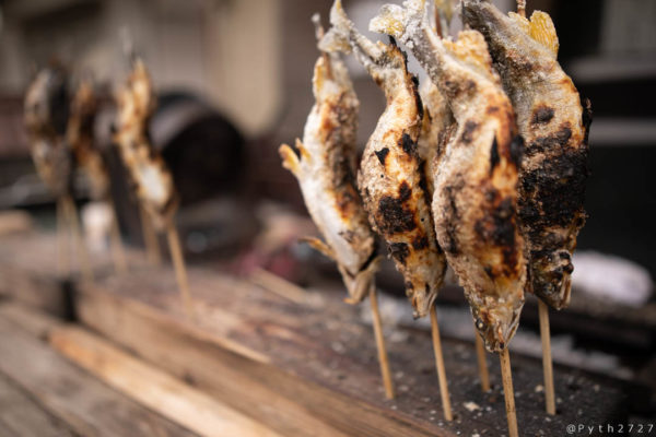 天川村の鮎の塩焼き