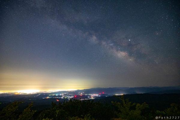 青山高原の天の川