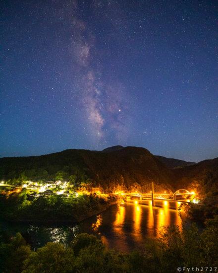白屋展望台の天の川