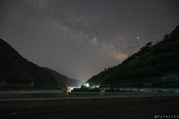 大滝ダムの天の川