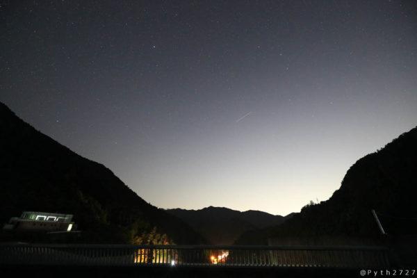 大滝ダムの星空