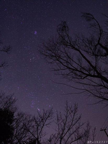 神野山駐車場と星空