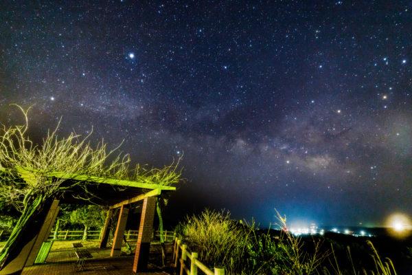 面白展望台から見る天の川