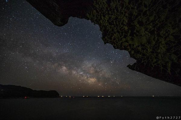 鬼ヶ城の星空と天の川