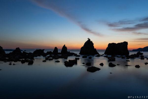串本橋杭岩の夜明け