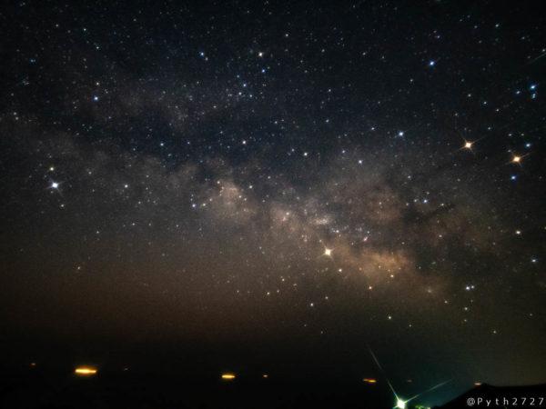 パールロードから見る天の川