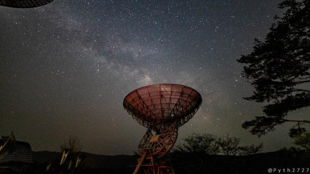 深夜のみさと天文台で天の川を撮影しました