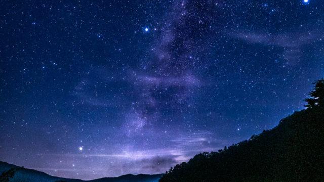 ナメゴ谷のビューポイントから見える星空・天の川を紹介します(奈良県上北山村)【星景写真】