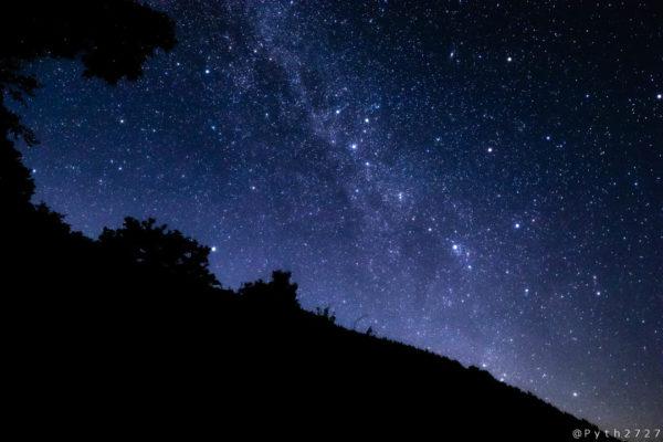 ナメゴ谷の星空と天の川
