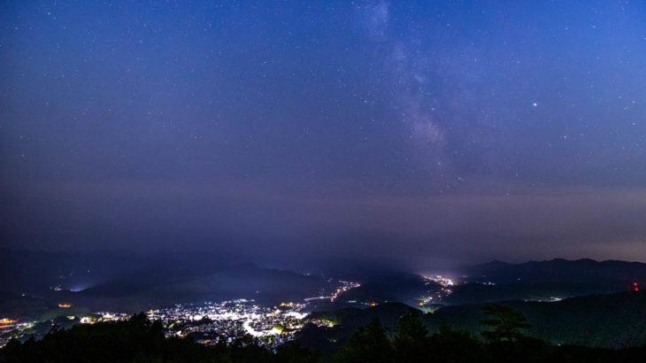 鳥見山公園から見える夜景と星空を紹介します(奈良県宇陀市)