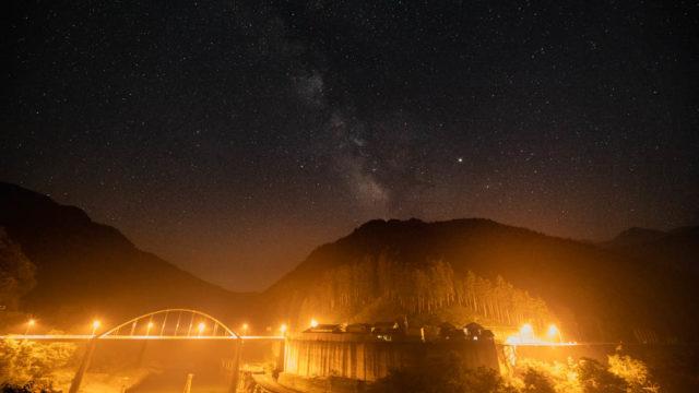 武木から見える星空、天の川を紹介します(奈良県川上村)【星景写真】