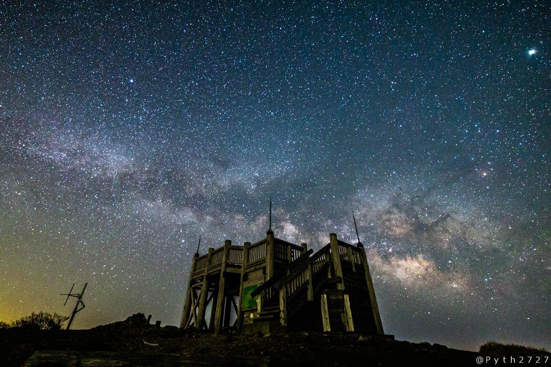大台ヶ原山頂日出ヶ岳の星景写真