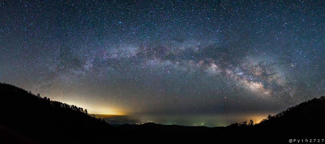 大台ヶ原の星景写真