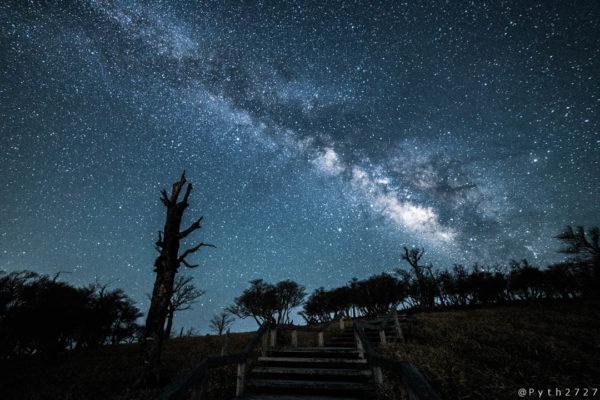 大台ヶ原正木峠の星景写真