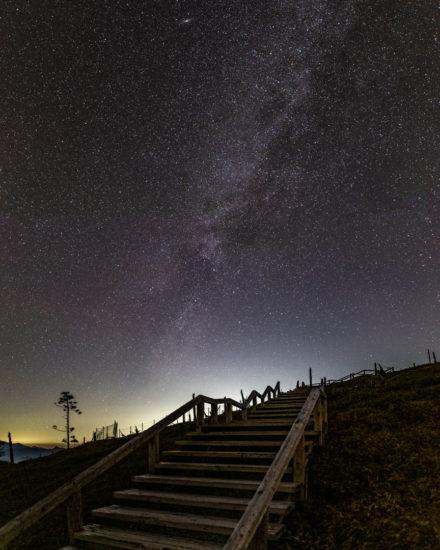 正木峠の冬の天の川