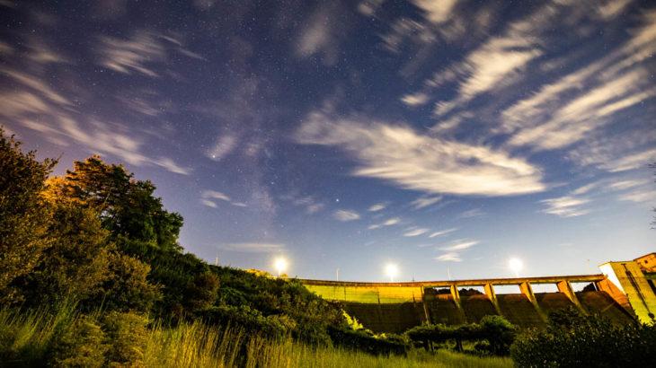 布目ダムから見える星空を紹介します(奈良県奈良市)