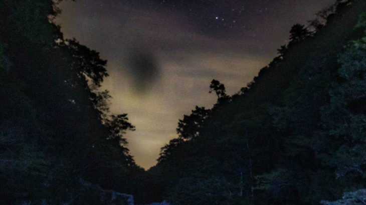 清納の滝で星空を撮影しました(奈良県十津川村)
