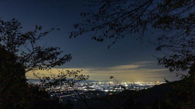 畑 七曲展望所の夜景と星空を撮影してきました(奈良県明日香村)