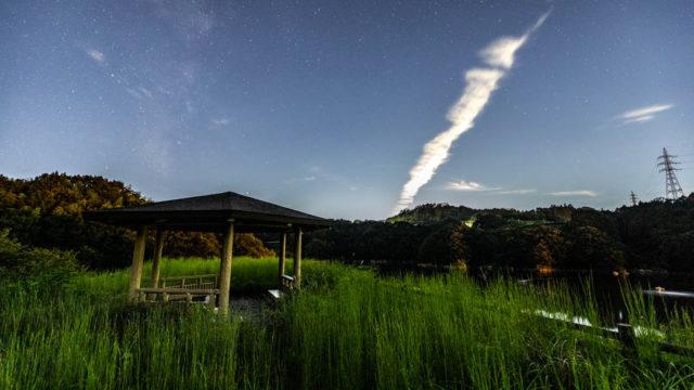 牛ヶ峰コスモス公園から見える星空を紹介します(奈良県山添村)