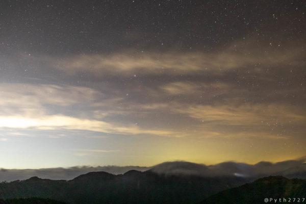 道の駅田辺市龍神ごまさんスカイタワーで撮影した星空
