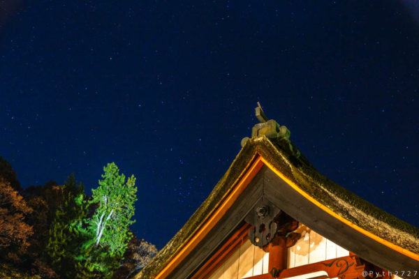 談山神社の星空