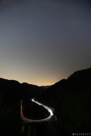 天理ダムの星空