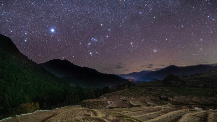 丸山千枚田の星空を撮影に行きました(三重県熊野市)
