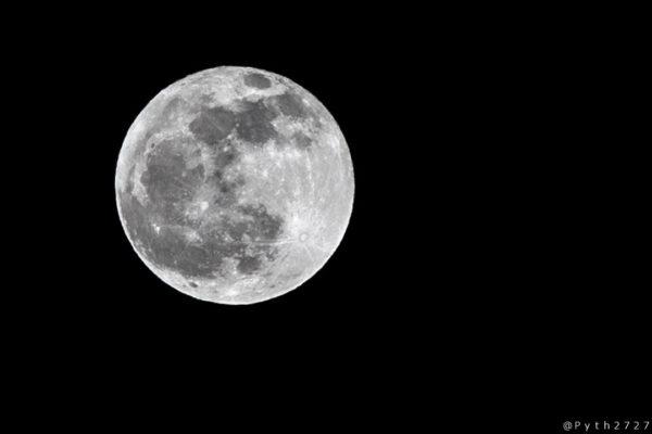 2019年今年最後の満月コールドムーン