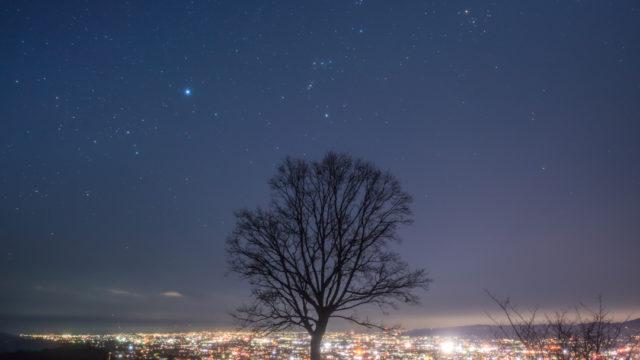 若草山の夜景と星空を撮影に行きました(奈良県奈良市)