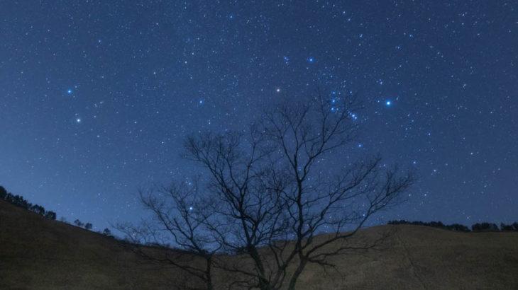 クリスマス・イヴの夜に見上げた星空