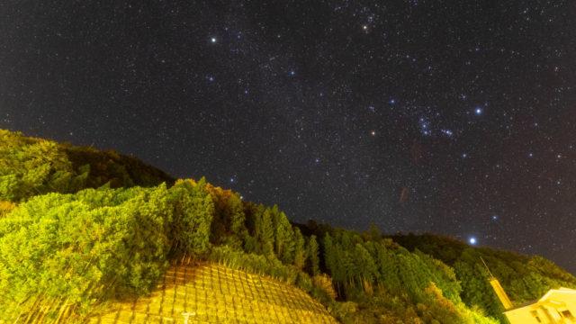 道の駅 吉野路上北山で見えた星空を紹介します(奈良県上北山)