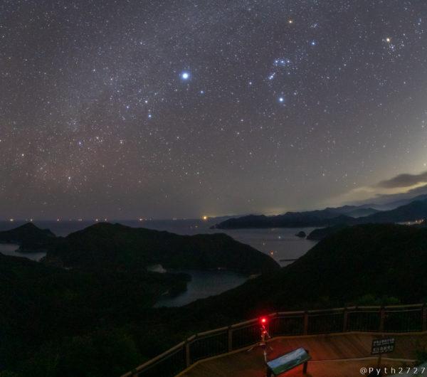 鵜倉園地の星空・天の川