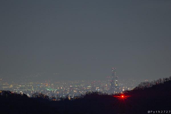 明神山から見るあべのハルカス
