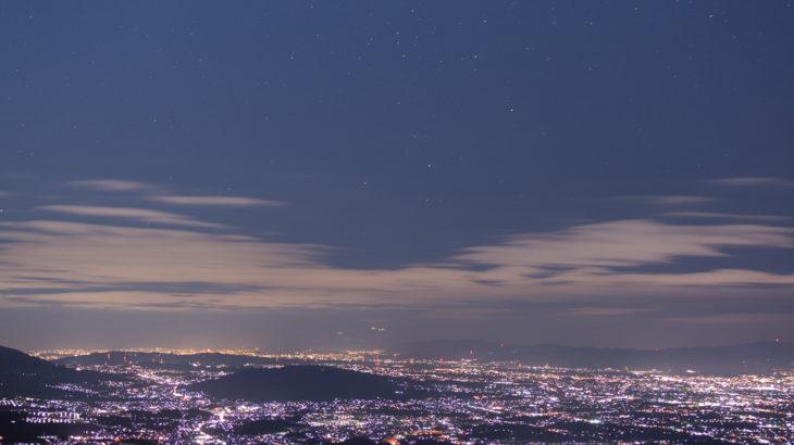 大和葛城山の星空を撮影しました(奈良県御所市)
