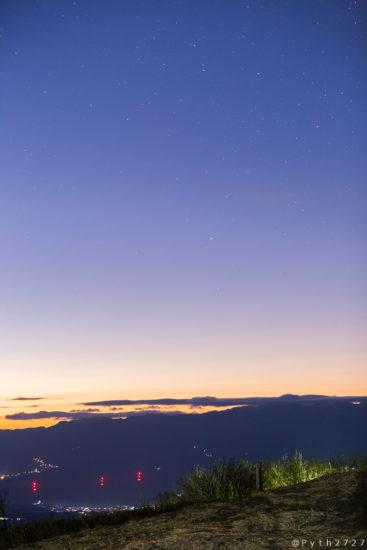 葛城山の星空