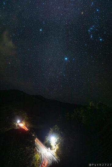 中ノ磯展望台の天の川