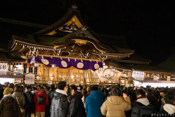 大神神社の年越し、カウントダウン、初詣