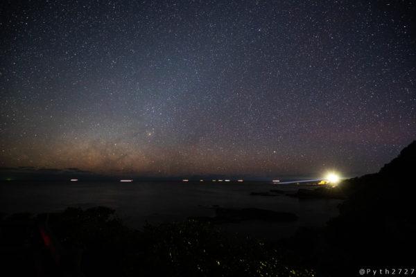 燈明崎の星空