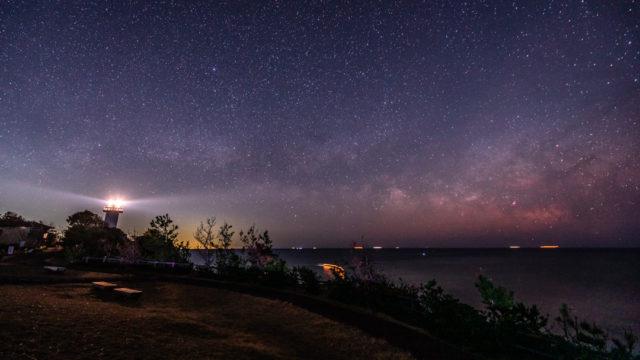 夜の安乗崎灯台へ星空の撮影に行きました(三重県志摩市)