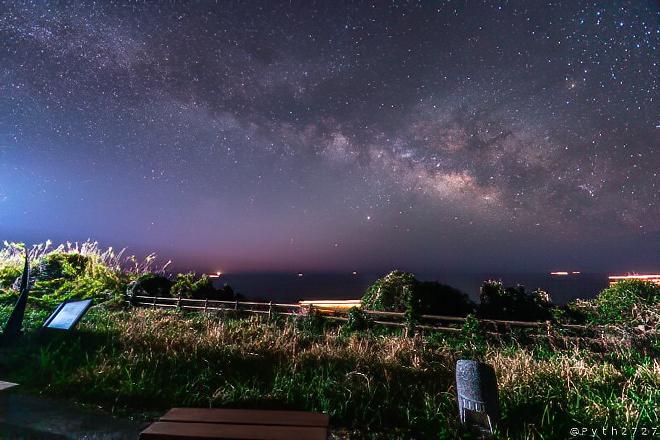 樫野埼灯台の天の川