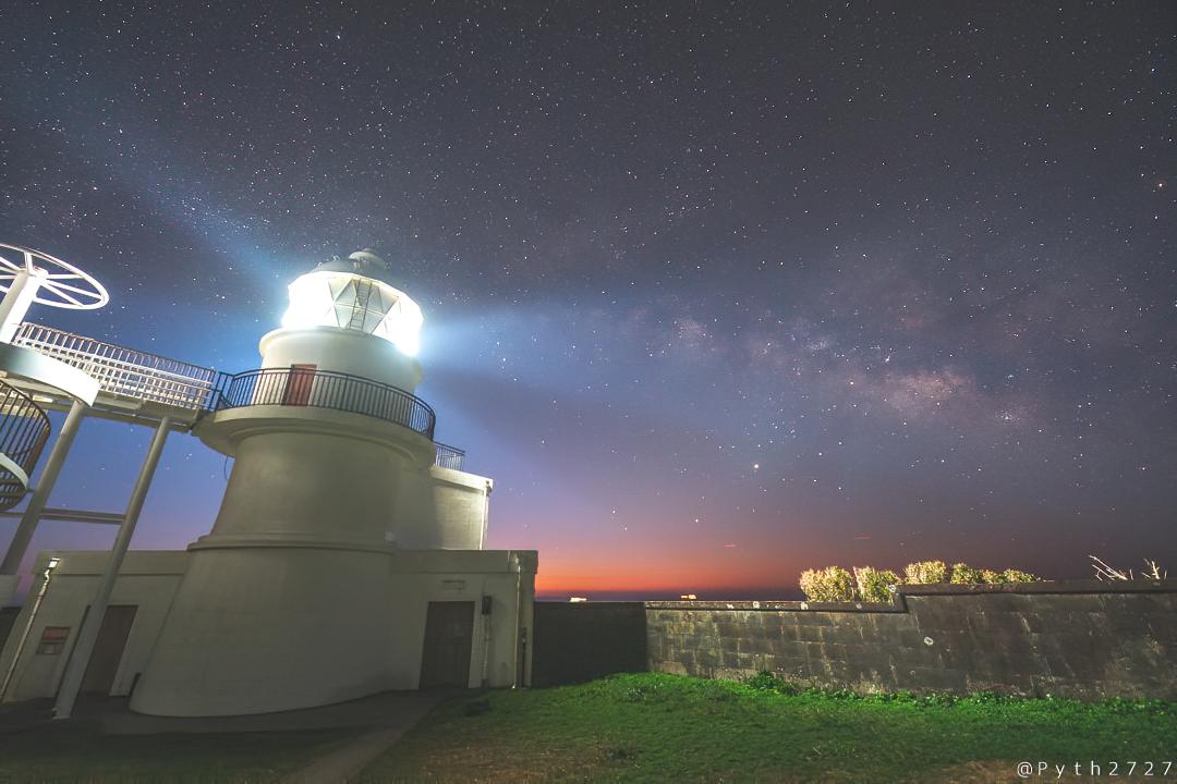 樫野崎灯台の天の川