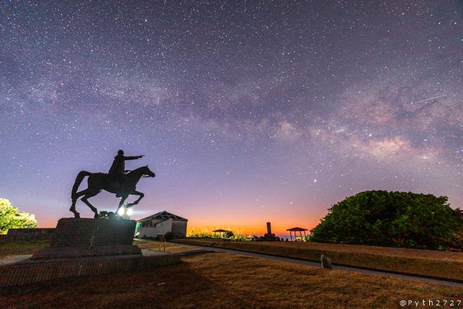 樫野崎灯台の星空