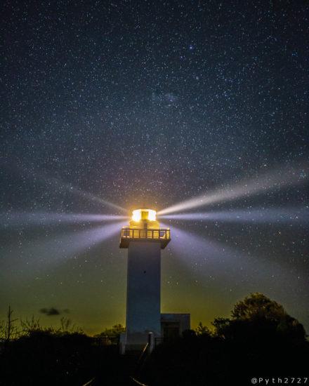 安乗崎灯台の星