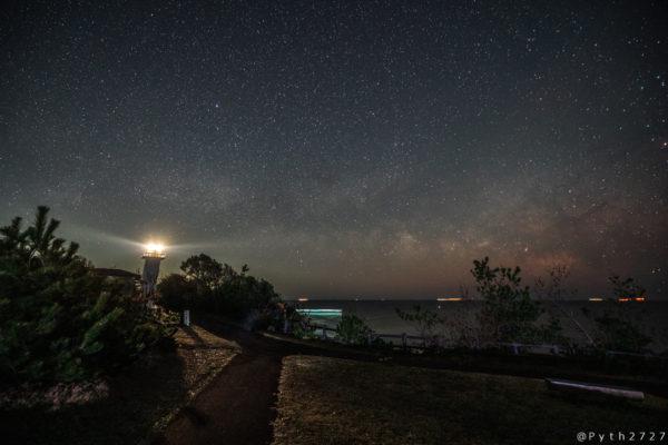 安乗崎灯台の星空