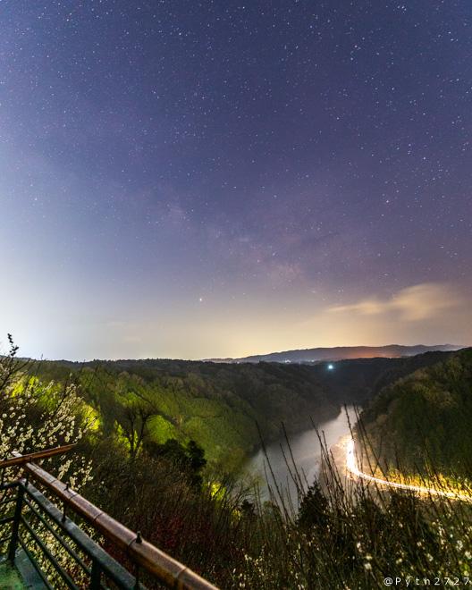 月ヶ瀬居梅林の天の川