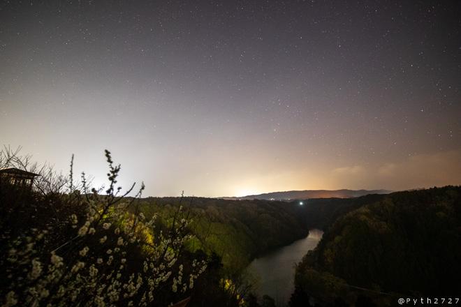 月ヶ瀬居梅渓の星空