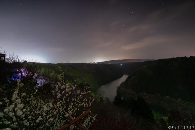 月ヶ瀬梅林の星空