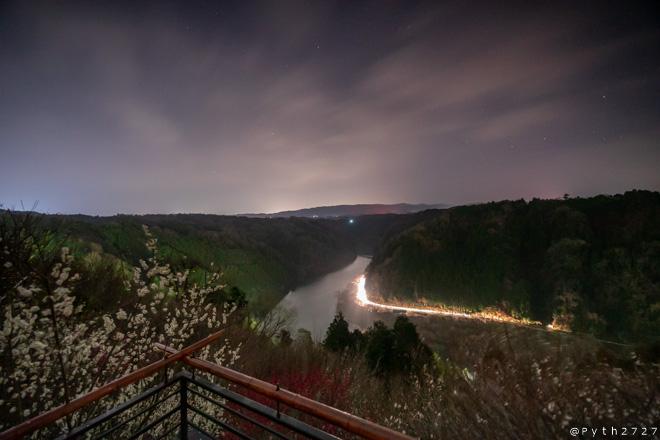 月ヶ瀬梅渓の夜