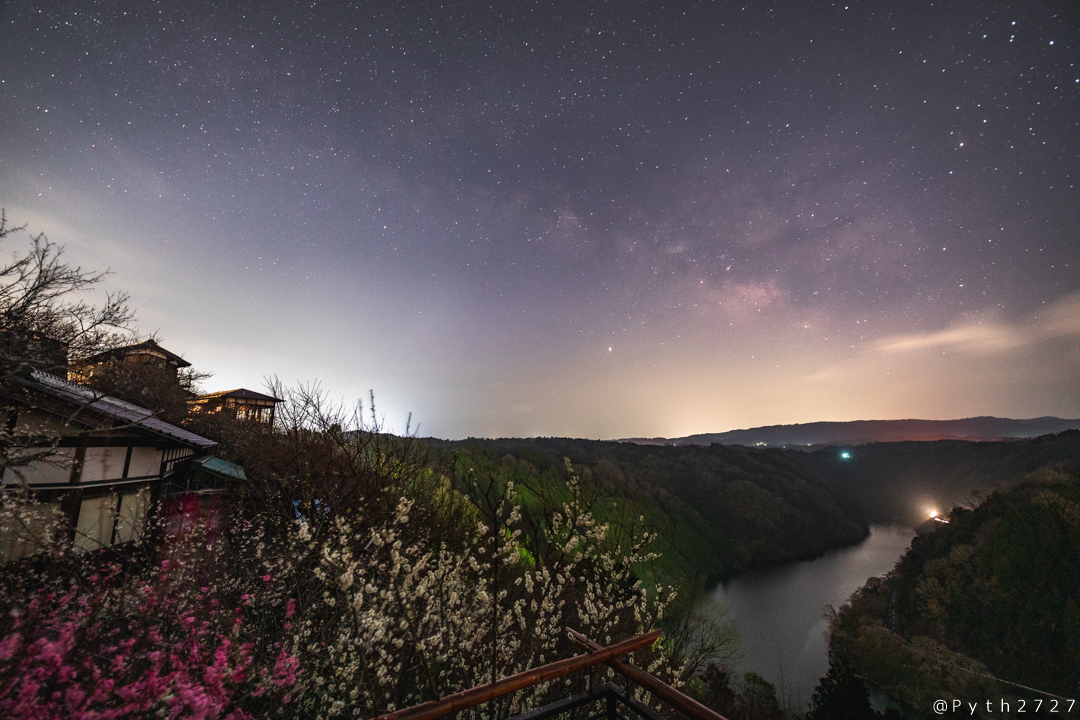 月ヶ瀬梅渓の天の川